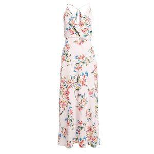 Lush surplice floral pale lilac maxi dress